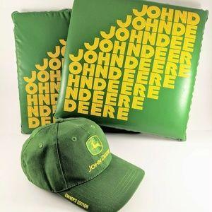 John Deere Hat Owners Ed&Bleacher Cusions Vintage